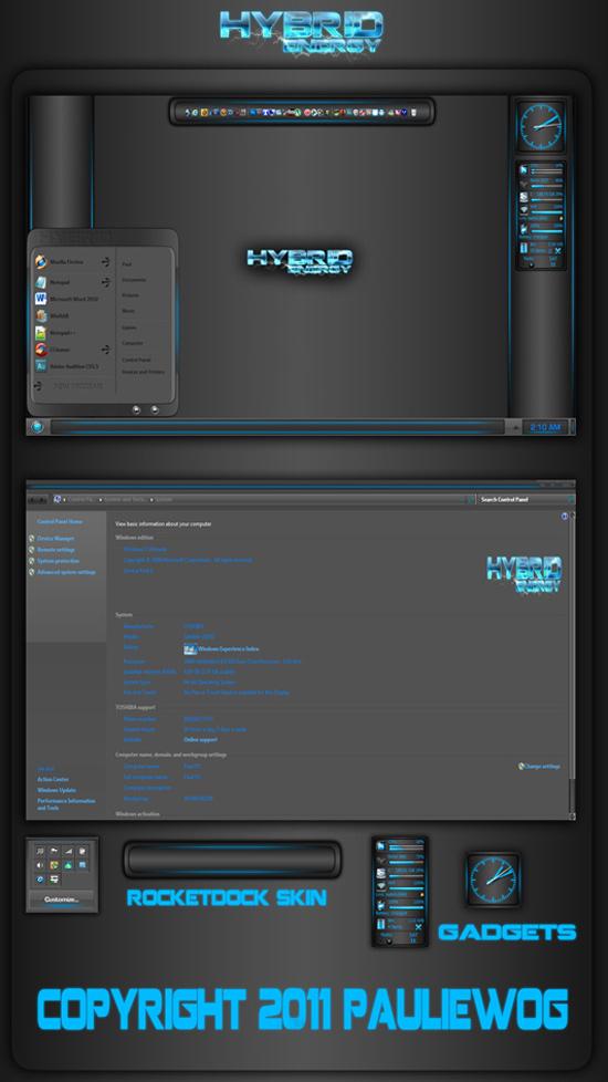 Креативная тема для Windows 7.